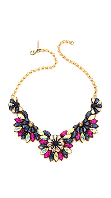 Deepa Gurnani Crystal Half Circle Necklace