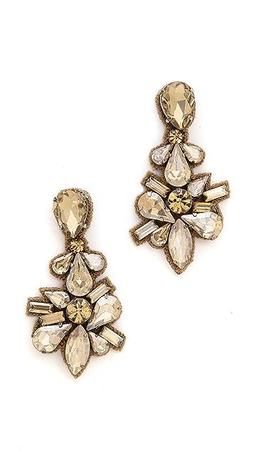 Deepa Gurnani Crystal Drop Earrings