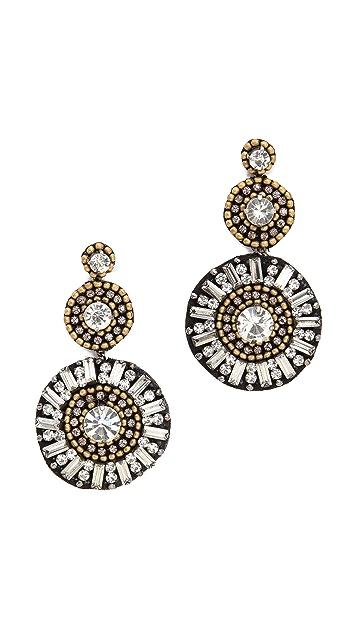 Deepa Gurnani Sunburst Earrings