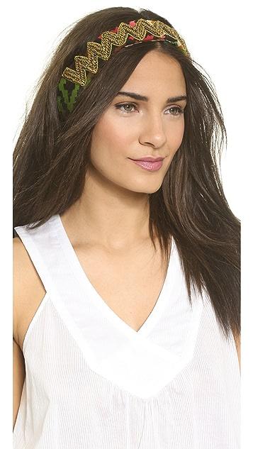Deepa Gurnani Beaded Zigzag Headband