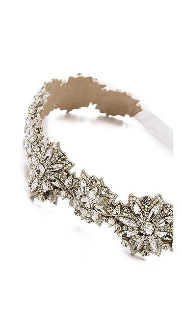 Deepa Gurnani Wide Crystal Belt