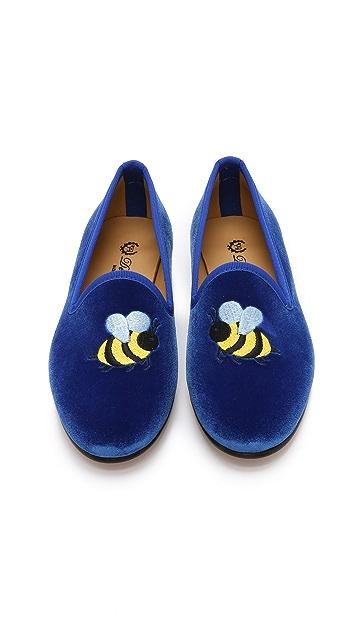 Del Toro Bumble Bee Smoking Slippers