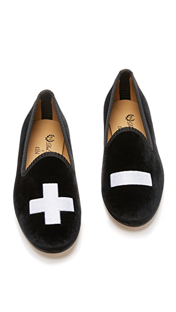 Del Toro Del Toro x Tibi Smoking Slippers