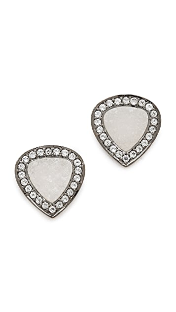 Dara Ettinger Druzy Pave Stud Earrings