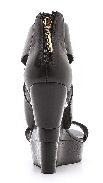 Diane von Furstenberg Opal Crisscross Wedge Sandals