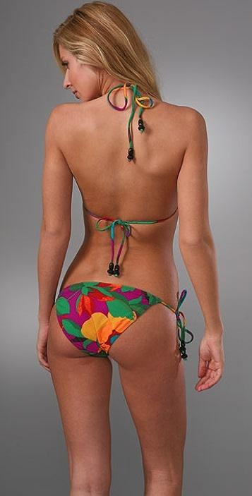 Diane von Furstenberg Print String Bikini Top