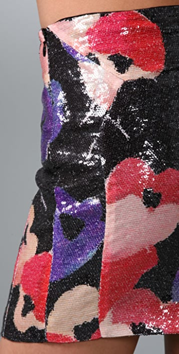 Diane von Furstenberg Kawa Sequin Skirt