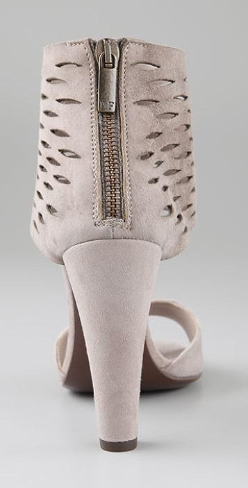 Diane von Furstenberg Aegean Suede Sandals with Slashed Cuff