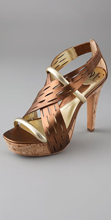 Diane von Furstenberg Isis Crisscross Platform Sandals