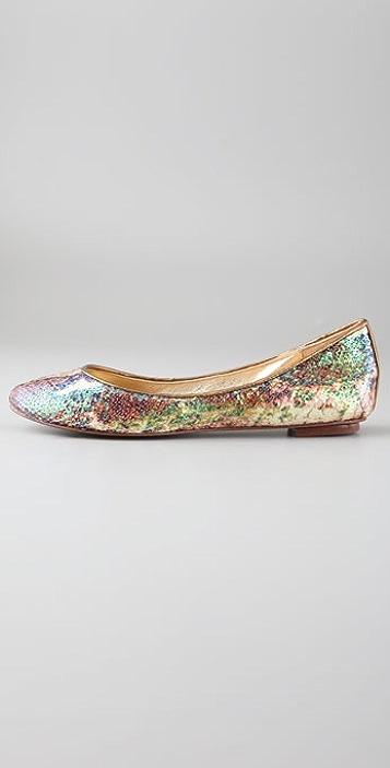 Diane von Furstenberg Nika Sequin Python Print Flats