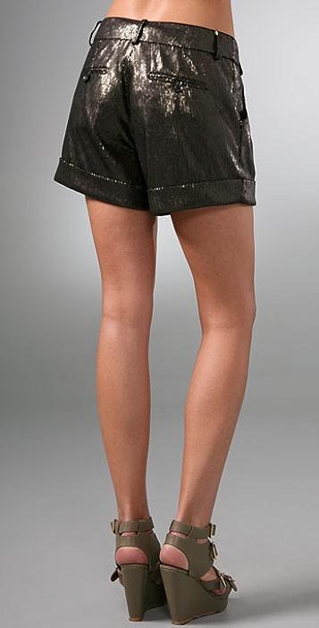 Diane von Furstenberg Dax Sequin Shorts