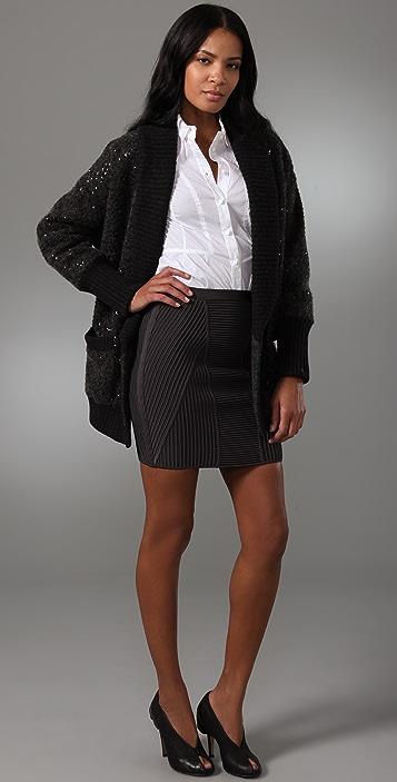 Diane von Furstenberg Zayde Sequined Sweater Jacket