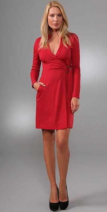 e7edcf99f0f Diane von Furstenberg Biker Wrap Dress ...