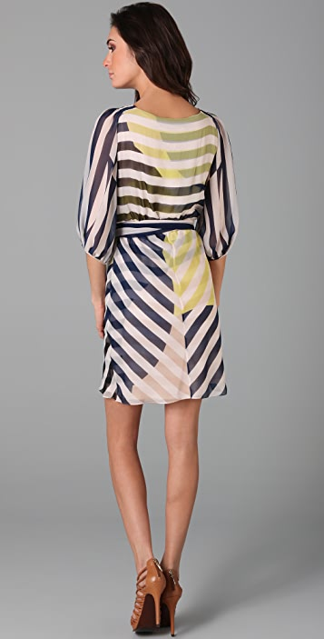 Diane von Furstenberg Striped Ignacia Wrap Dress