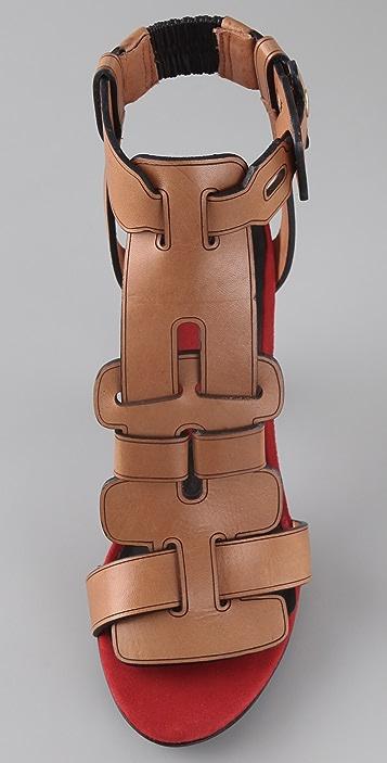 Diane von Furstenberg Irene T Strap High Heel Sandals