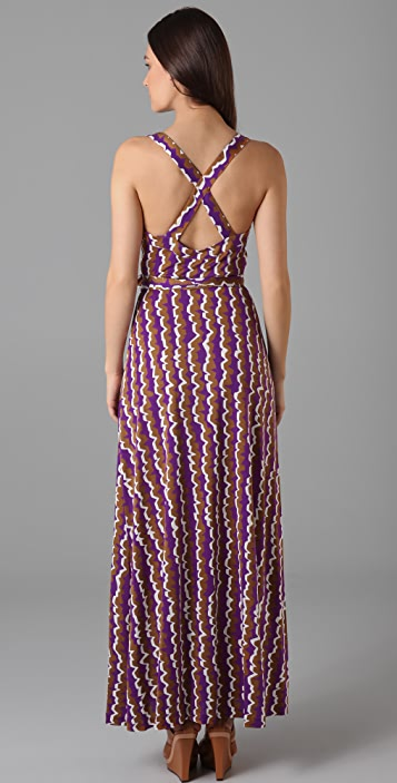 Diane von Furstenberg Samson Maxi Wrap Dress