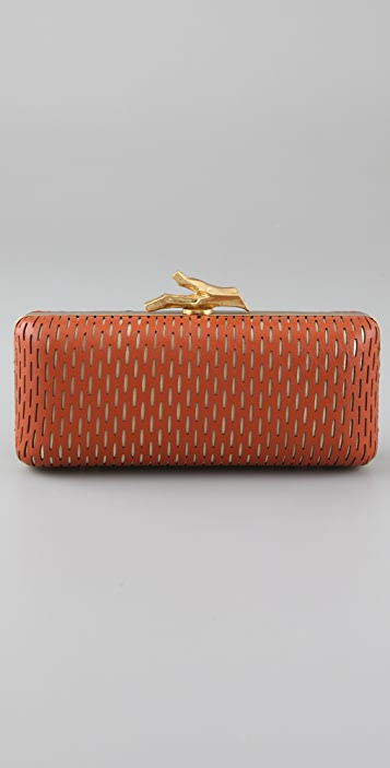 Diane von Furstenberg Tonda Sliced Leather Clutch