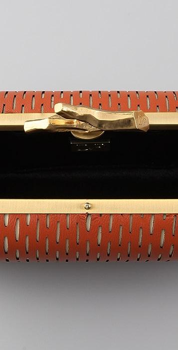 Diane von Furstenberg Tonda Sliced Leather Clutch