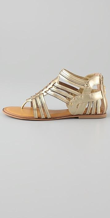 Diane von Furstenberg Kuiron Metallic Gladiator Sandals