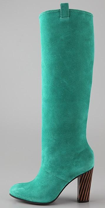 Diane von Furstenberg Parker Suede High Heel Boots