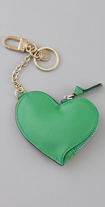 Diane von Furstenberg Heart Coin Pouch Keychain