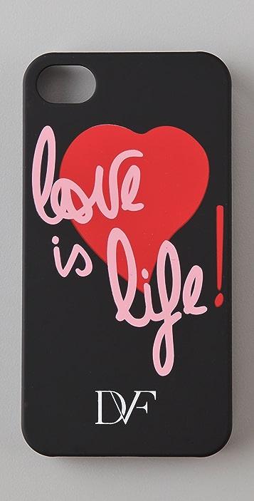 Diane von Furstenberg Love is Life iPhone Case