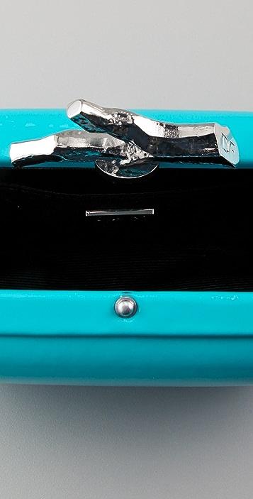 Diane von Furstenberg Lytton Small Patent Leather Clutch