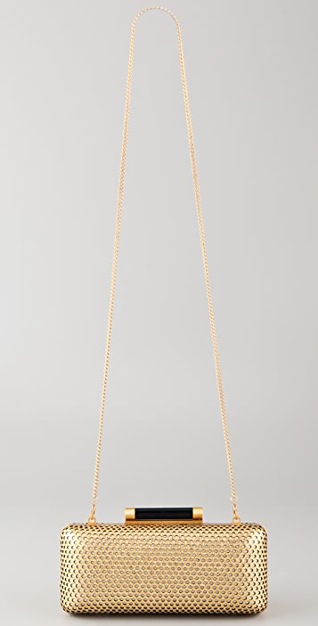 Diane von Furstenberg Tonda Metallic Clutch