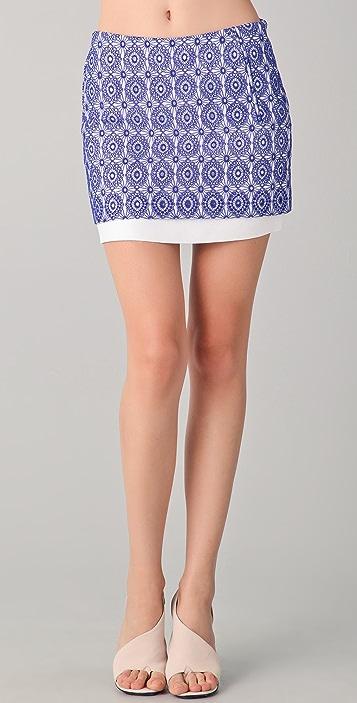 Diane von Furstenberg Elley Lace Eyelet Miniskirt