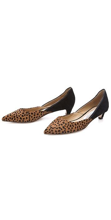 Diane von Furstenberg Alice Kitten Heel Haircalf Pumps