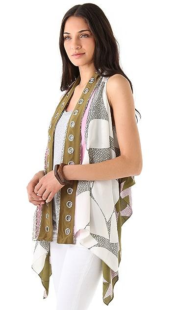Diane von Furstenberg Scarf Vest