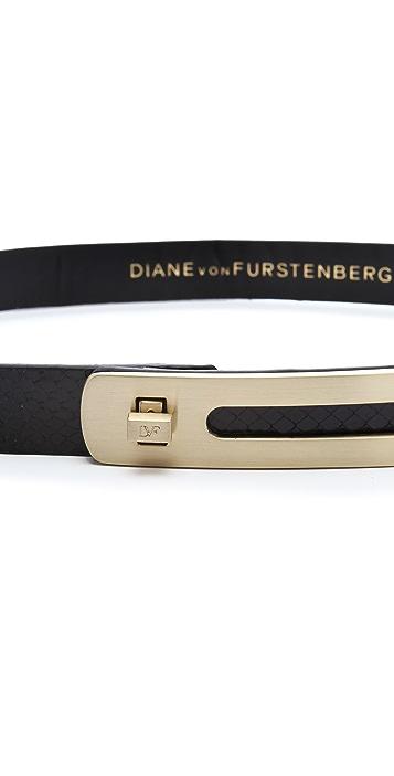 Diane von Furstenberg Ava Snake Belt