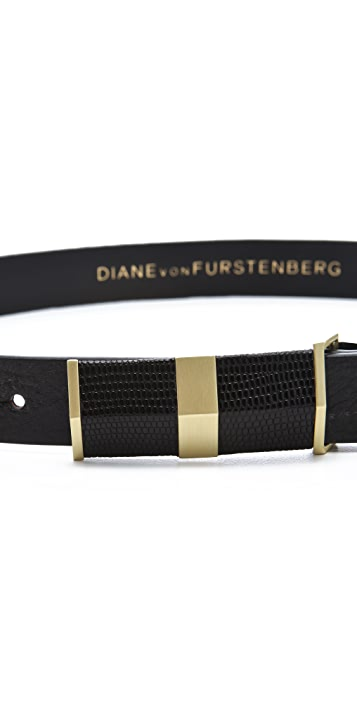 Diane von Furstenberg Tava Lizard Belt