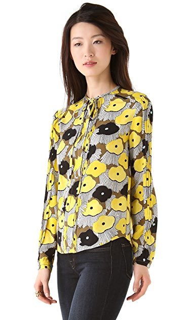 Diane von Furstenberg New Whitman Blouse