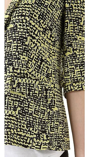 Diane von Furstenberg Victor Print Blazer