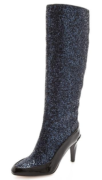Diane von Furstenberg Dalad Glitter Boots