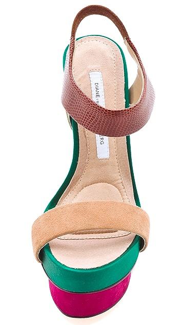 Diane von Furstenberg Toy Colorblock Sandals