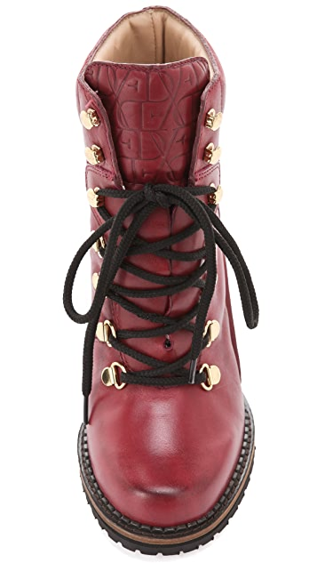 Diane von Furstenberg Sapna Lace Up Booties