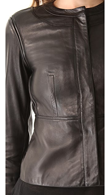Diane von Furstenberg Maya Leather Jacket