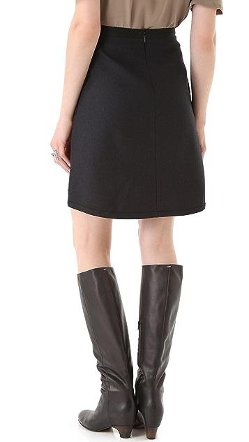 Diane von Furstenberg Ava Flannel Skirt