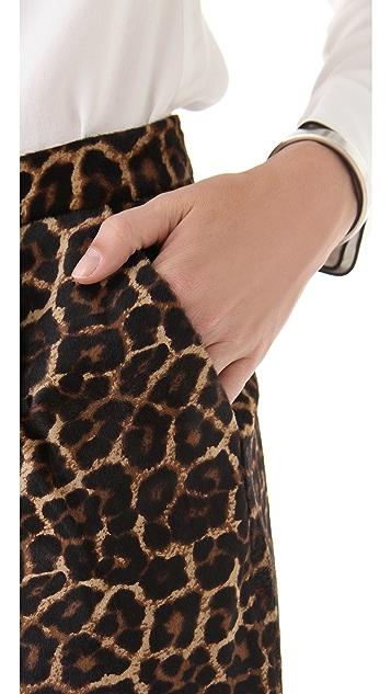 Diane von Furstenberg Lolita Haircalf Miniskirt