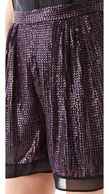 Diane von Furstenberg Sandra Sequin Shorts