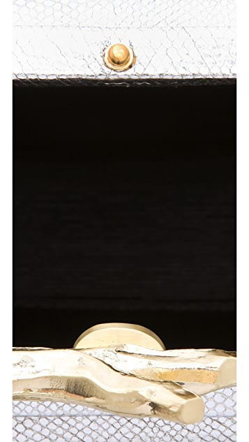 Diane von Furstenberg Lytton Small Metallic Clutch