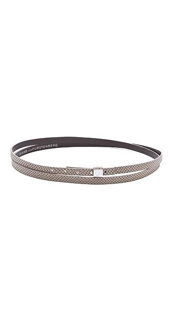 Diane von Furstenberg Haley Python Wrap Belt