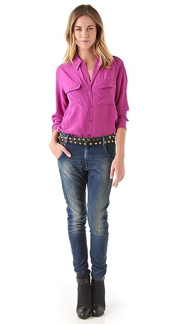 Diane von Furstenberg Haley Studded Wrap Belt