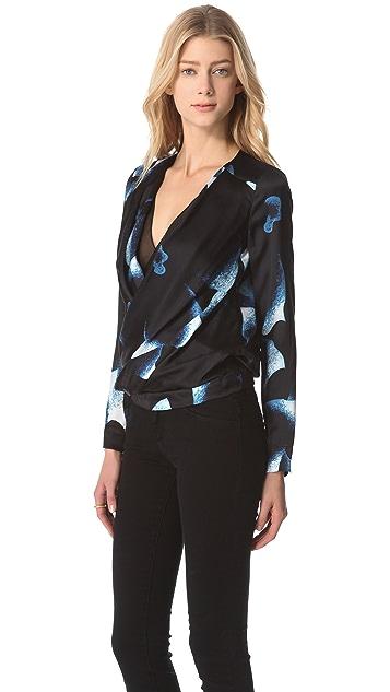 Diane von Furstenberg New Issie Blouse with Long Sleeves