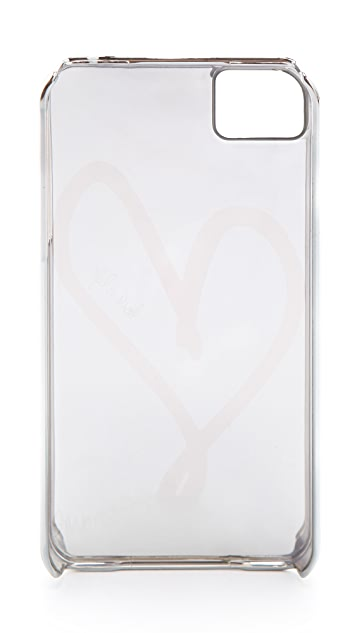 Diane von Furstenberg Metallic Single Heart iPhone 4 Case