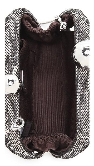 Diane von Furstenberg Sphere Metallic Tweed Clutch