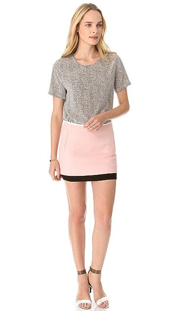 Diane von Furstenberg Elley Colorblock Miniskirt