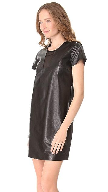 Diane von Furstenberg Medya Cutout Leather Dress